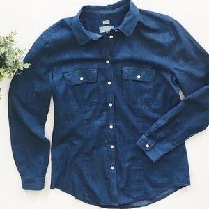 Loft The Softened Chambray Buttondown Shirt
